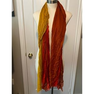 Lucky Brand red/yellow scarf